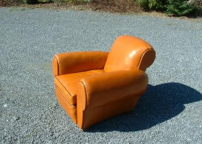 Garnissage fauteuil Club en cuir